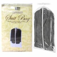 "2X Suit Garment Storage Bags 40"" Protective Jacket Cover Top Storage Dust Travel"