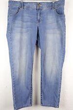 Lane Bryant Genius Fit Ankle Blue Denim Jeans Pants Women's Plus Size 18