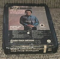 8 TRACK tape cartridge MERLE HAGGARD  STRANGERS OKIE FROM MUSKOGEE country VTG