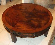 Henredon Heritage Mahogany Asian Style Round Coffee Table