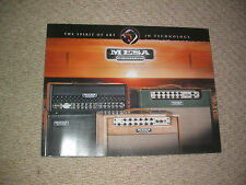 Mesa Boogie Amps 2007 catalogue Guitare collector Custom Studio Display Salle