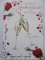 CHAMPAGNE CELEBRATION ROSES SPECIAL GRANDMA & GRANDAD ANNIVERSARY GREETING CARD