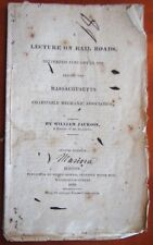 Very Rare 1829 A Lecture On Rail Roads Scarce Lecture on Travel early Roads