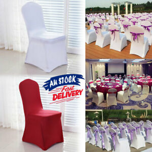 1X Chair Cover Spandex Lycra Party Deco Banquet Full Seat Covers Stretch Wedding