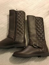 Brand New Designer Debenhams Girls Riding Boots Waterproof Leather Size11 Winter