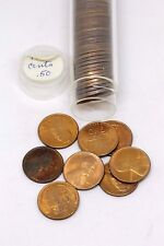 1940-S ROLL ORIGINAL GEM LUSTER BU UNCIRCULATED LINCOLN CENT PENNIES