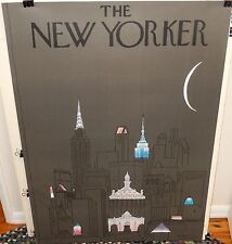 """R.O. BLECHMAN """"THE NEW YORKER"""" HUGE 1979 GREY POSTER"""