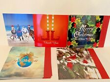 Lot of 10 New Nobleworks Holiday Greeting Cards Oversize Assorted with Envelopes
