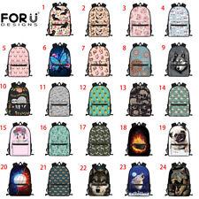 Floral Dog Butterfly Backpack Girls School Bags Women Laptop Travel Rucksack New