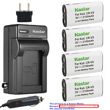 Kastar Battery AC Charger for Pentax CR-V3 & DigiBino 100 Optio 230 Optio 30