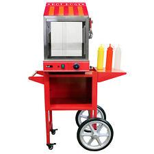 Gastro Hot Dog Wagen Stand Hotdog Speisenwärmer Wurstwärmer Imbisstand Catering