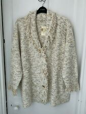 Classics Cream Long Sleeved Cardigan Size 28 - 30 (BNWT) Brand NEW With Tag
