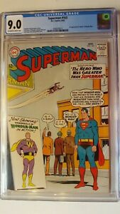 SUPERMAN # 163 CGC 9.0 DC 1ST APPEARANCE OF WONDER-MAN 1963