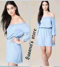 NWT bebe Amiee Fray Hem Dress SIZE S Gorgeous and flirty, off-shoulder design!