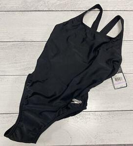 Speedo Women's Swimsuit One Piece Prolt Super Pro Solid Adult Black Size 32 NEW