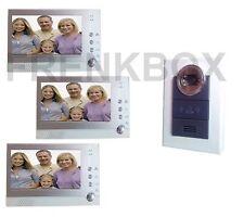 Videocitofono INTERFONO 3 monitor LCD FOTO RECORDER DVR registratore immagini