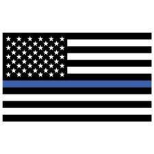 Usa Thin Blue Line 3 X 5 Polyester Flag