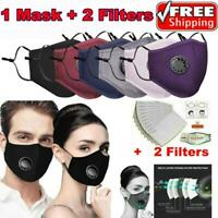 Mundschutz Filter Wiederverwendbare Maske Stoffmaske Staub Waschbar Atemschutz