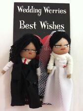 GUATEMALAN WORRY DOLLS - BRIDE AND GROOM - WEDDING - MARRIAGE DOLLS