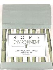 Sage Green QUEEN or KING 100% BAMBOO Sheet Set Home Environment Silky x-Deep