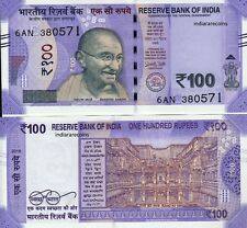 India 2018 New Design 100 Rs E Inset Paper Money Bank Note Unc New