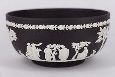 Wedgwood Jasperware Embossed White On Black Sacrifice Bowl Made In England