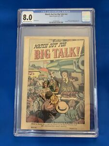 WATCH OUT FOR BIG TALK! CGC 8.0 Highest in CGC Census (Stalin Hitler Appearance)