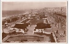 Sussex; Sunken Gardens, Looking West, Brighton & Hotel RP PPC, 1940 PMK