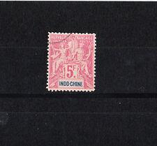 Indochine colonie Francaise  de 1892    5f  lilas    num:  16   obl