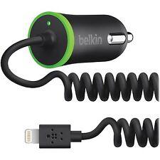 Belkin Car Charger w/Lighting Cable, Black F8J074BTBLK