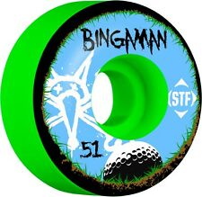 Bones STF 51mm V2 Street Tech Formula Pro Bingaman Bogey Green Skateboard Wheels