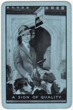 Playing Cards 1 Single Swap Card Old Vintage FRIARY ALES Brewery Beer Lady Girl