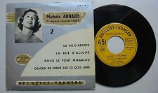 MICHELE ARNAUD (EP 45T)LA VIE D'ARTISTE (LEO FERRE)