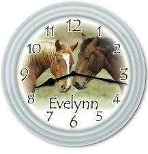 Personalized Horse Wall Clock - Equestrian Riding Girls Kids Bedroom Decor Gift