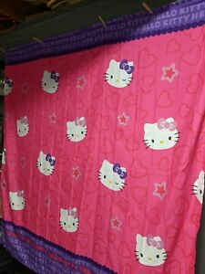 """Hello Kitty by Sanrio  Fabric Shower Curtain 72 x 72"""" NEW Pink Purple"""