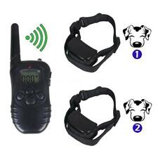 Remote Small/Med/Large Dog Training Shock Vibrate 2 Adjustable Collar Trainer MG