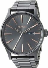 Nixon Men's Sentry SS A3562785-00 42mm Gray Dial Stainless Steel Watch