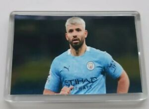 Manchester City Man City Sergio Aguero Football Fridge Magnet 45mm x 70mm