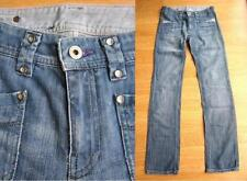 Diesel Mid Rise Regular Size Distressed Jeans for Women