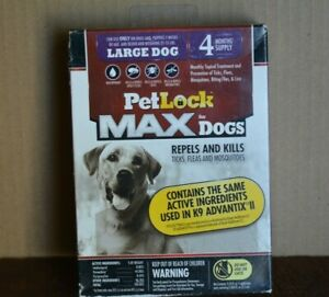 PETLOCK MAX FOR DOGS REPELS & KILLS FLEAS ( 4 MONTHS SUPPLY ) LARGE