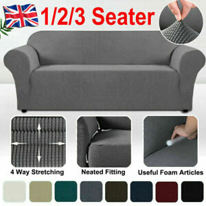 1/2/3 Seater Sofa Seat Covers Couch Cover Slipcover Cushion Elastic Protector UK