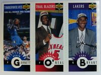 KOBE BRYANT Rookie RC 1996/97 COLLECTOR'S CHOICE With/ J. O'NEAL KEVIN GARNETT