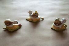 homco snail figurines lot of 3
