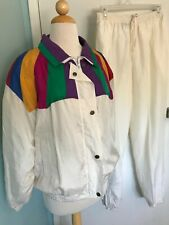 Vintage 90s Womens Silk Colorbock Jacket & Pants, Details Express, New w/ Tags