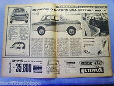 LAUTOM959-RITAGLIO/CLIPPING-ROAD IMPRESSION-1959- GOGGOMOBIL T 700