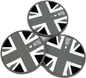 Grey Union Jack Anti-Slip Cup Holder Mat Fit For Mini JCW R55 R56 R57 R58 R59