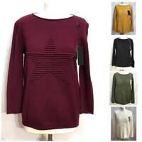 Women Ladies Winter Italian knitted Star Jumper Top sweater long sleeve Jumper