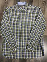 Barbour Long Sleeve Plaid Multi-Color Regular Fit Size L / XL Pocket Shirt