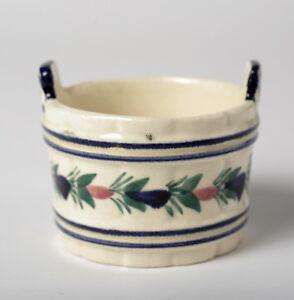 HB Quimper Fayence alte Schale beige Blumendekor Dek. 298 P.G. Keramik Töpfchen