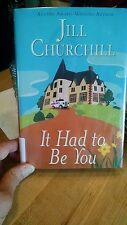 Hard Cover Book It Had to Be You By Jill Churchill Library Cover Jacket